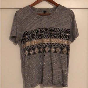 Heather Gray embellished T-Shirt - J.Crew - M